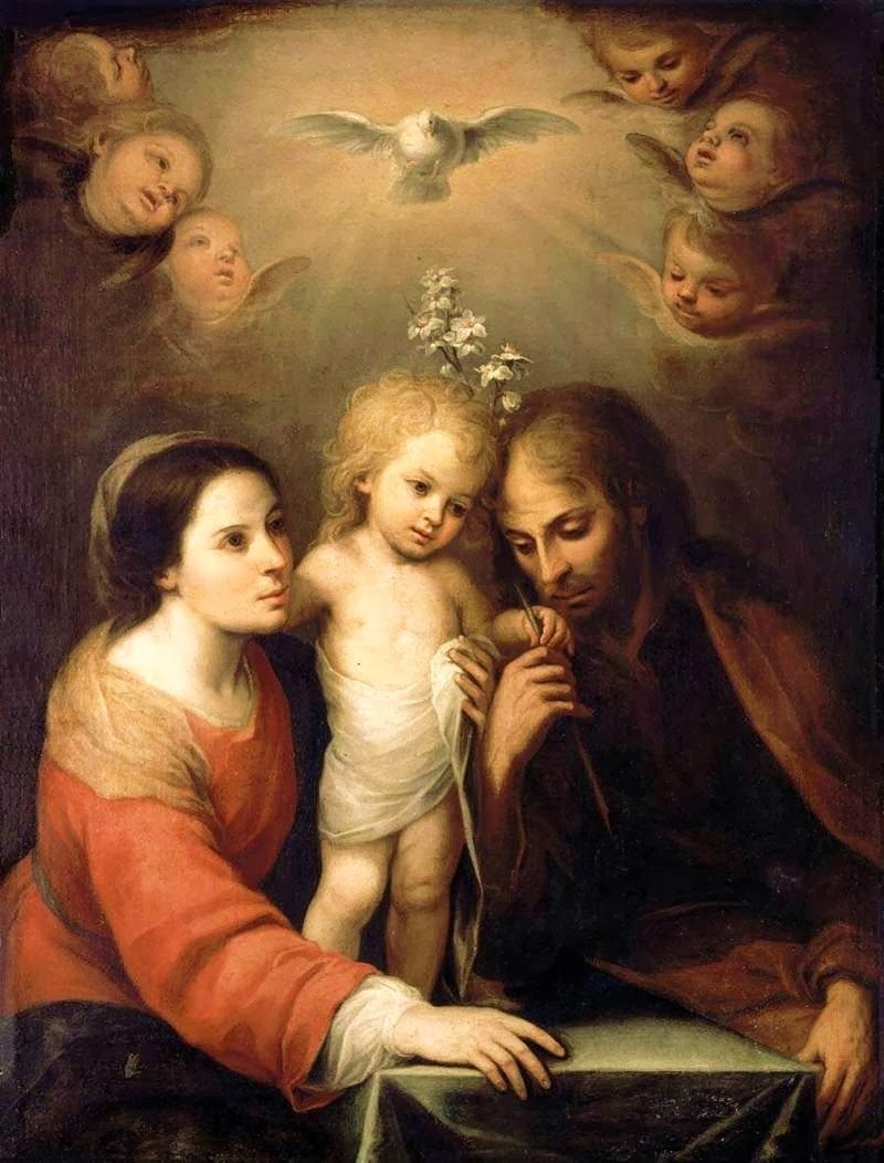 Holy Family by Juan Simón Gutierrez, 1680